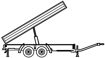 Construction trailers from 5 t to 38 t